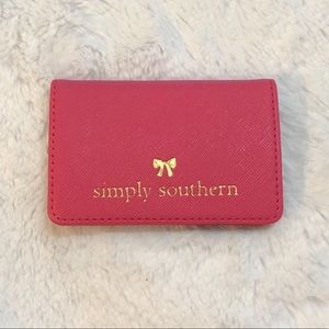 """Simply Southern """"Bow"""" Vegan Leather Card Holder"""